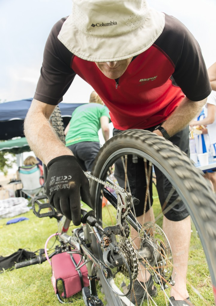 Dr Bike was on hand to fix any fun stopping punctures.
